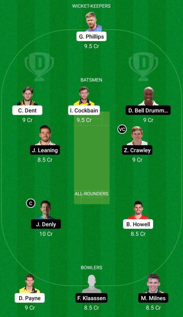 GLO vs KET Dream11 Prediction Fantasy Cricket Tips Dream11 Team English T20 Blast