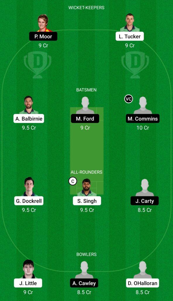 LLG vs MUR Dream11 Prediction Fantasy Cricket Tips Dream11 Team Ireland Inter-Provincial T20