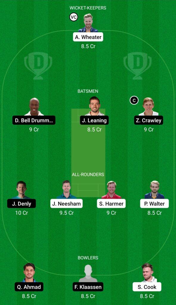 ESS vs KET Dream11 Prediction Fantasy Cricket Tips Dream11 Team English T20 Blast