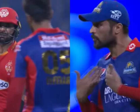 Mohammad Amir And Iftikhar Ahmed Have A Go At Each Other