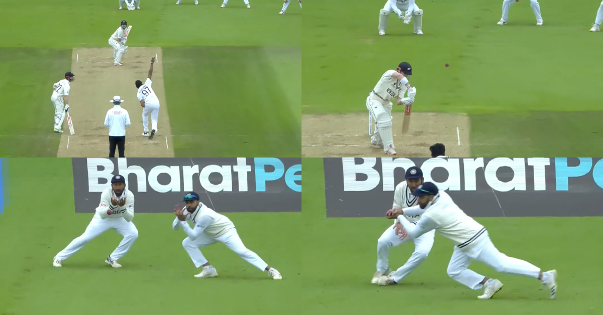 ICC WTC Final: Ishant Sharma Dismisses Henry Nicholls As Rohit Sharma Takes An Outstanding Catch At Slips - Watch Video