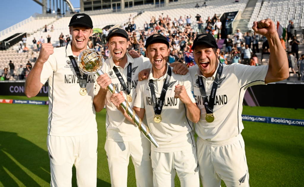 New Zealand Fast Bowlers Tim Southee, Trent Boult, Neil Wagner, Kyle Jamieson