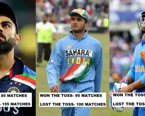 Most Successful Indian Captains At Coin Toss (Minimum 100 Matches)