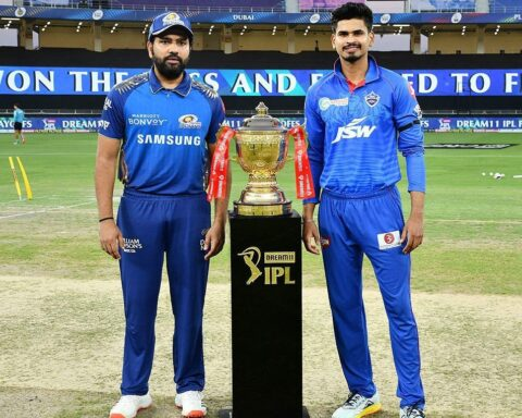 Rohit Sharma and Shreyas Iyer During IPL 2020 Final