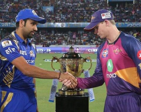 Rohit Sharma and Steve Smith During IPL 2017 Final