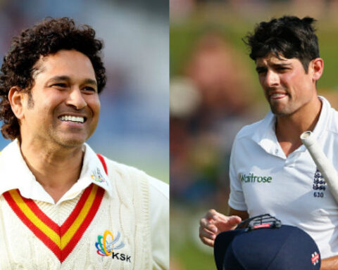 Sachin Tendulkar and Alastair Cook