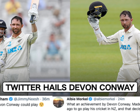 Twitter Erupts As Devon Conway Smashes Century On Test Debut Against England At Lord's