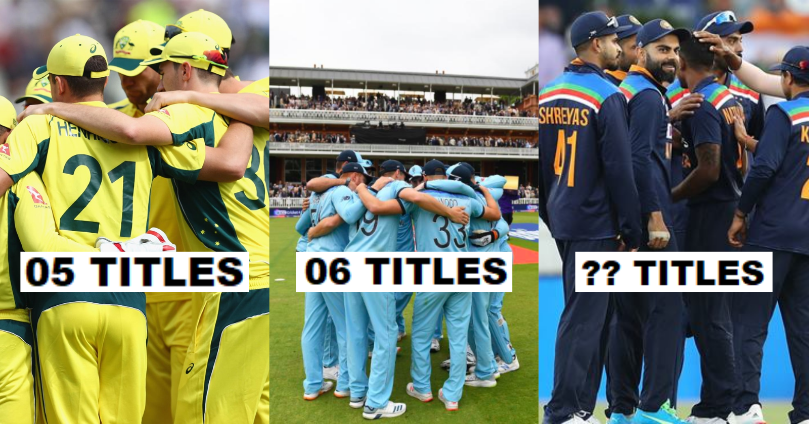 Predicting The Chances Of Top 8 International Teams Winning The Most ICC Trophies Until 2031