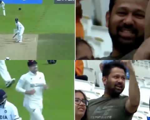 Watch: Indian Fan Expression Changes In Split Seconds As Trent Boult Dismisses Ajinkya Rahane After Being Struck For A Boundary