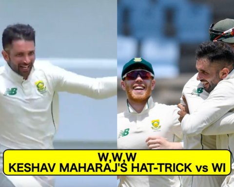 Watch: Keshav Maharaj Stuns The West Indies As He Becomes The Second South African Bowler To Claim A Test Hattrick
