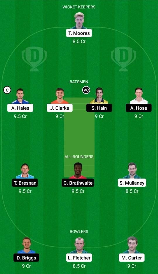 NOT vs WAS Dream11 Prediction Fantasy Cricket Tips Dream11 Team English T20 Blast