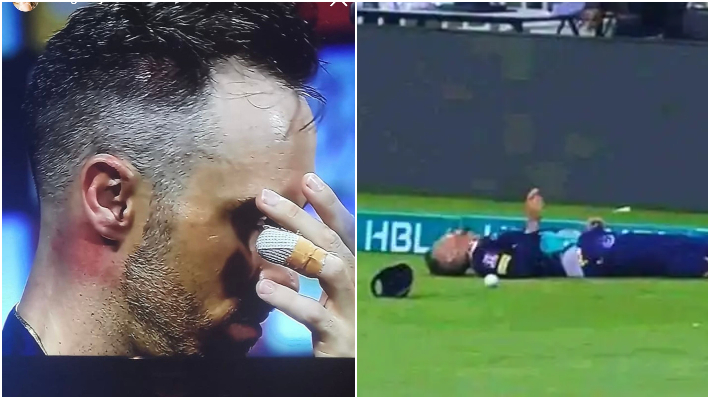 Faf du Plessis suffered memory loss after being hit on head during onfield collision (Photo-Twitter)