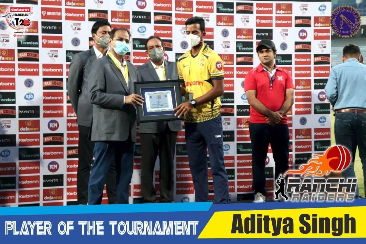2021 आदित्य-सिंह-रांची-रेडर्स झारखंड टी20 लीग