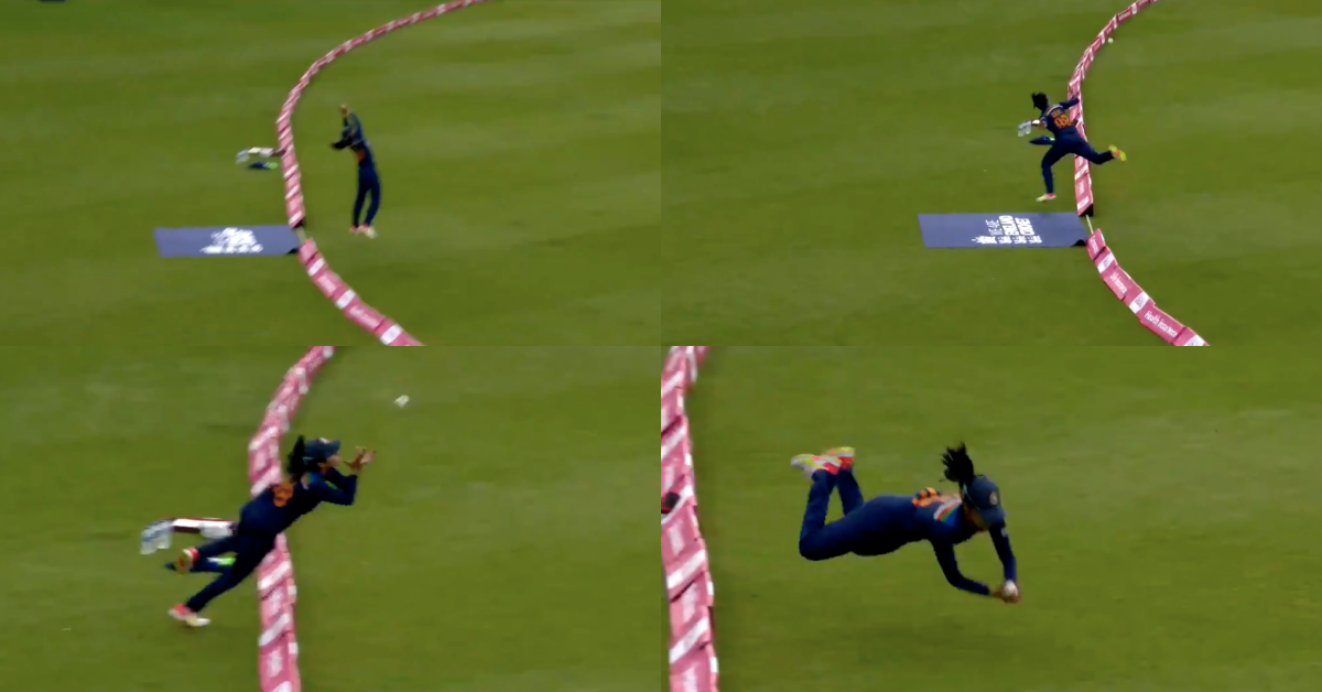 Watch: Harleen Deol takes a great catch in the first T20I vs England