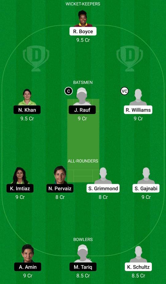 WI-WA vs PK-WA Dream11 Prediction Fantasy Cricket Tips Dream11 Team Pakistan Women Tour West India