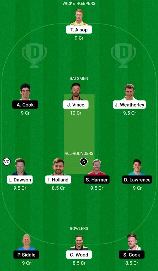 HAM vs ESS Dream11 Prediction Fantasy Cricket Tips Dream11 Team English ODI Cup