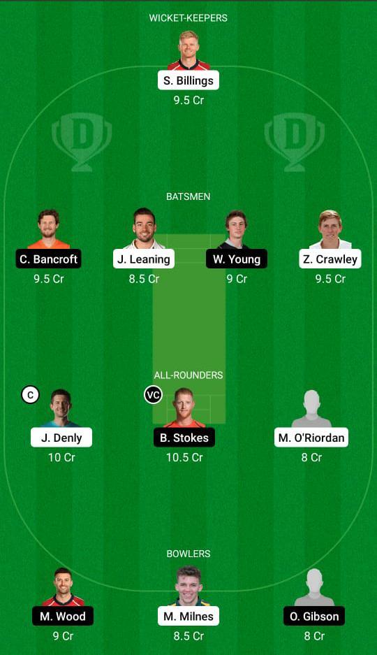 KET vs DUR Dream11 Prediction Fantasy Cricket Tips Dream11 Team English One-Day Cup