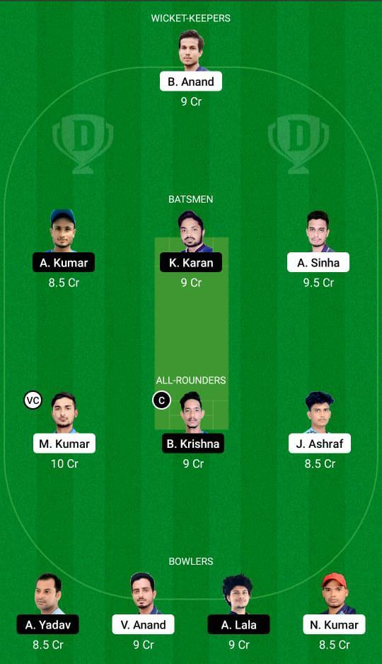 DUM vs SIN Dream11 Prediction Fantasy Cricket Tips Dream11 Team BYJU's Jharkhand T20