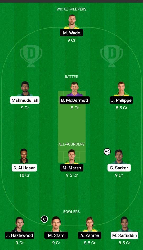 Bangladesh vs Australia Dream11 Prediction Fantasy Cricket Tips Dream11 Team