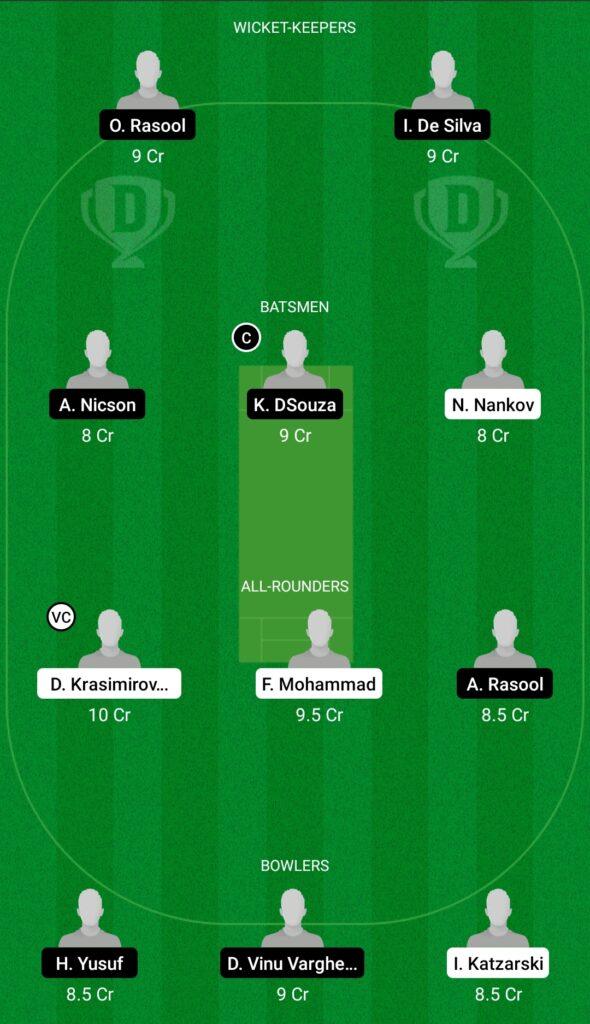 BAR vs MUS Dream11 Prediction Fantasy Cricket Tips Dream11 Team FanCode ECS T10 Bulgaria