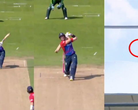 Watch: Liam Livingstone's 121.96M Six Off Haris Rauf Lands Out Of The Headingley