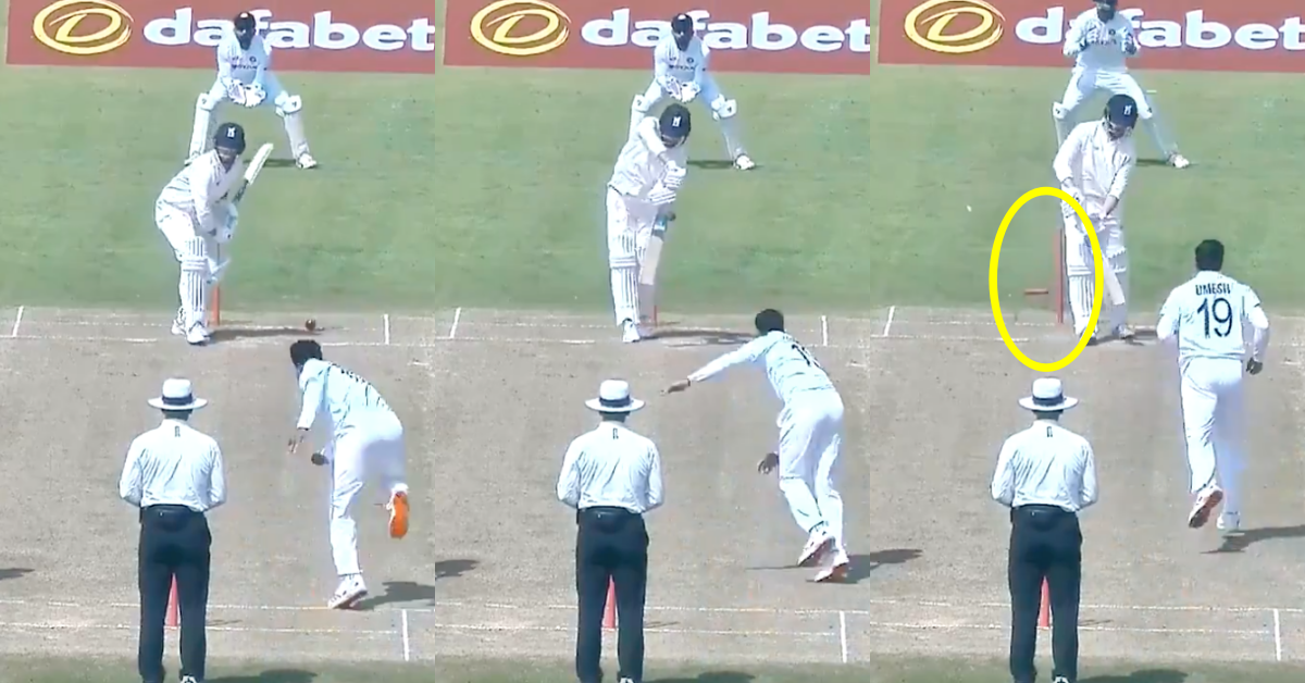 Watch: Umesh Yadav Destroys Will Rhodes' Off-Stump For His Second Wicket In The Warm-Up Match