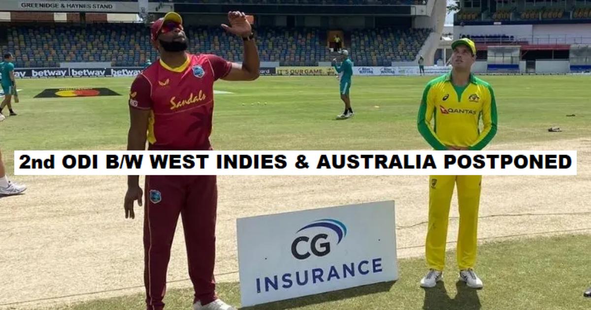 West Indies Australia ODI Postponed