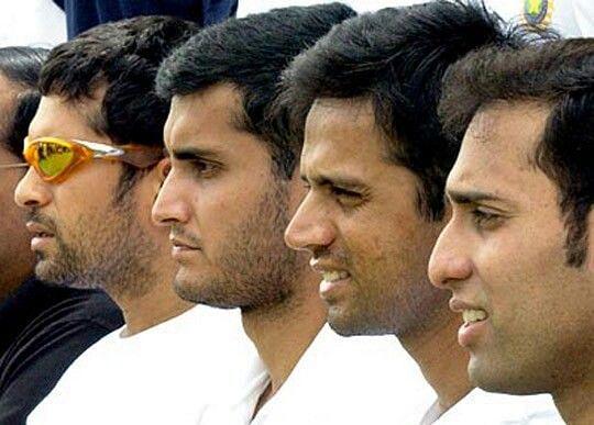 Sachin Tendulkar, Sourav Ganguly, Rahul Dravid, VVS Laxman
