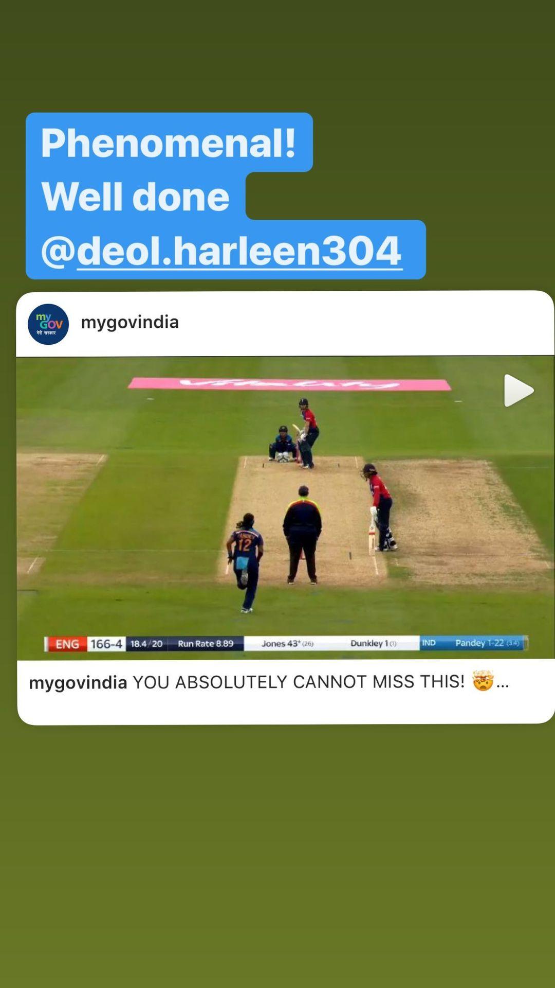 "Prime Minister Narendra Modi Praises Harleen Deol For Her ""Phenomenal""  Catch At The Boundary Line Against England"