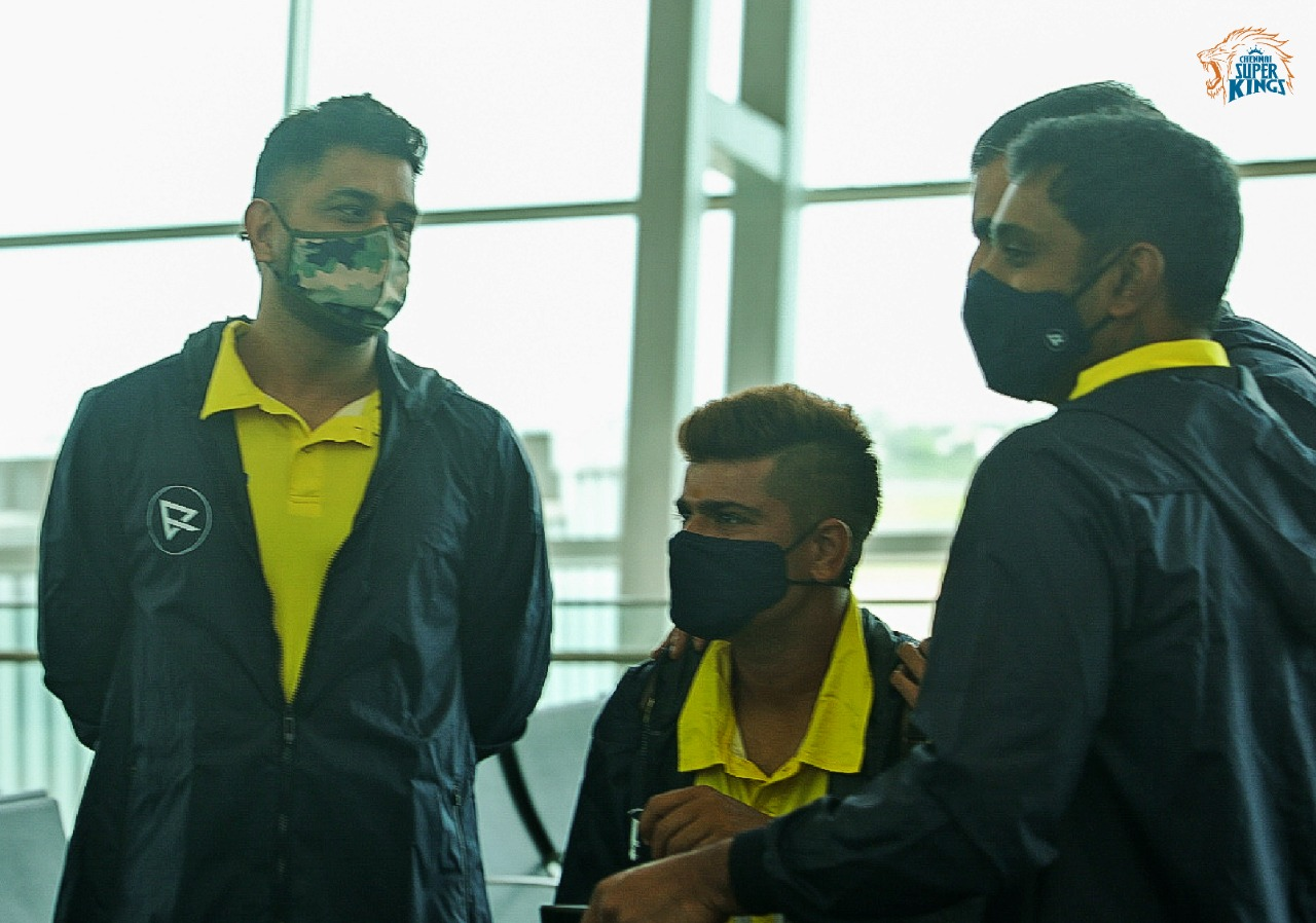 CSK Players Depart For UAE