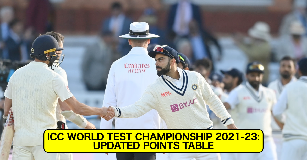 ICC World Test Championship 2021–23: Updated Points Table After 2nd Test Between England and India