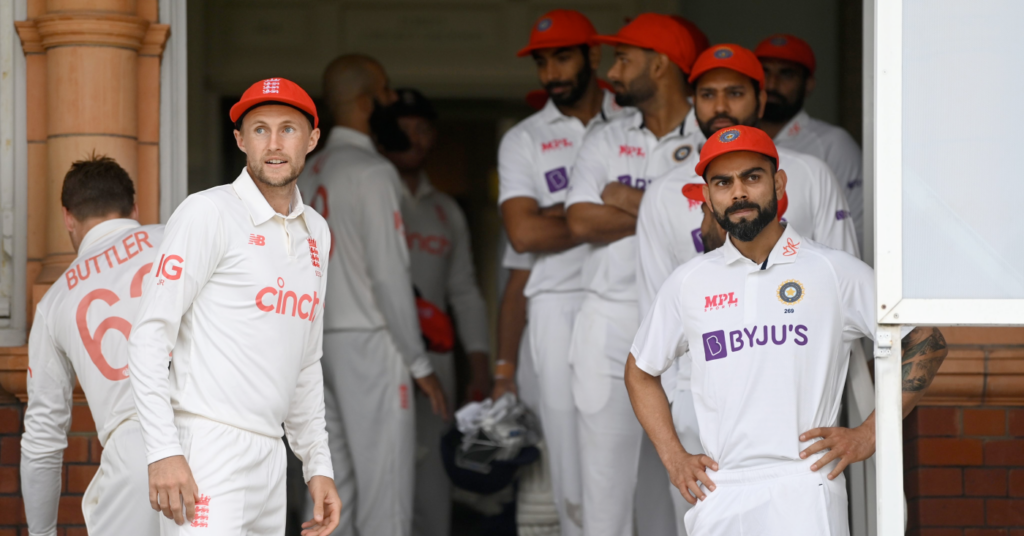 Reveal: why India and England wear red caps on day 2 of the Lord's test