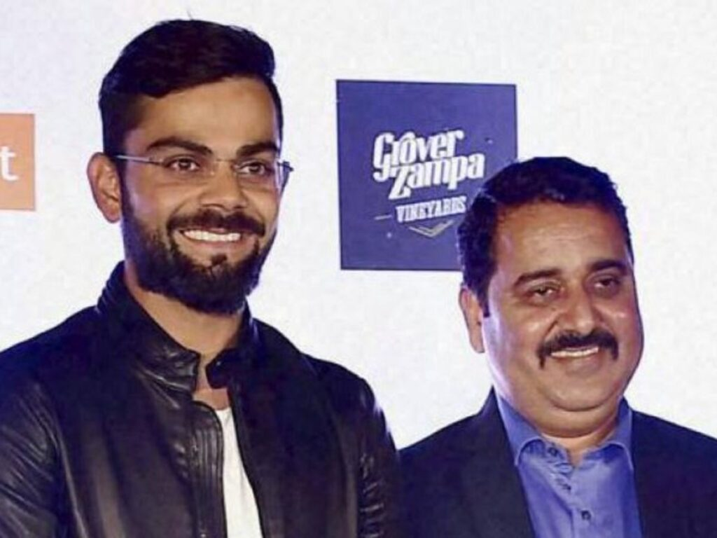 Virat Kohli and Rajkumar Sharma