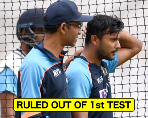 Indian opener Mayank Agarwal ruled out of the 1st test against England