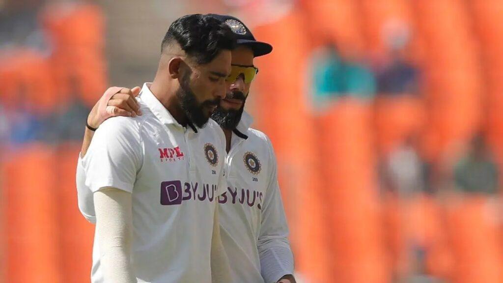 Mohammed Siraj And Virat Kohli