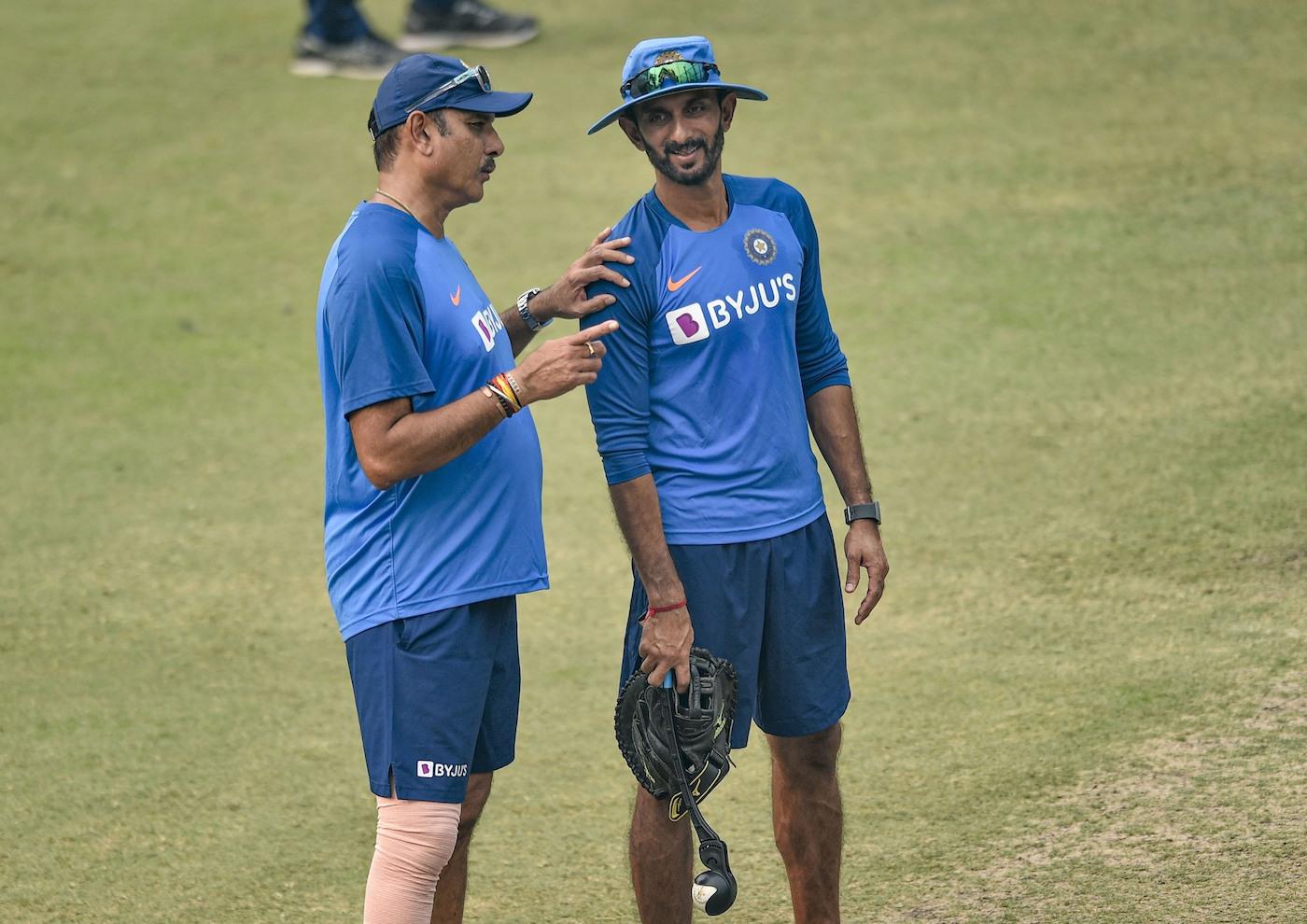 Ravi Shastri and Vikram Rathour