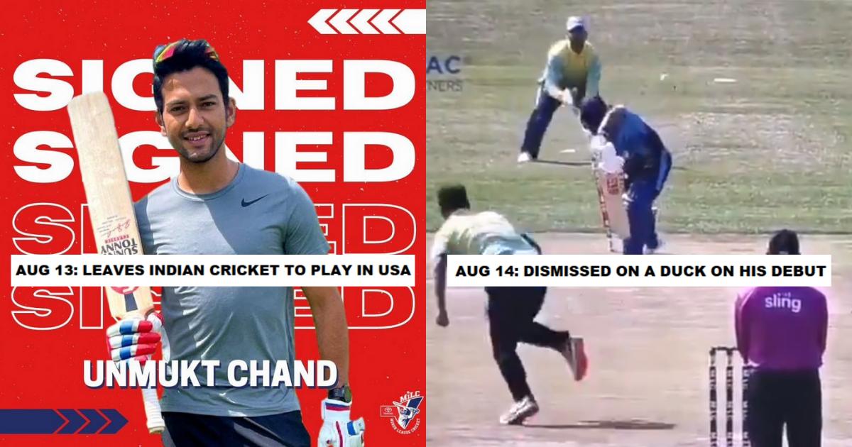 Unmukt Chand Duck Wicket Minor Cricket League Debut