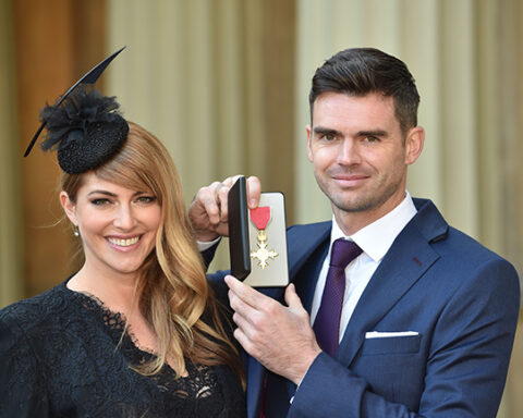 James Anderson with wife Daniella Lloyd-Anderson. Photo-Twitter