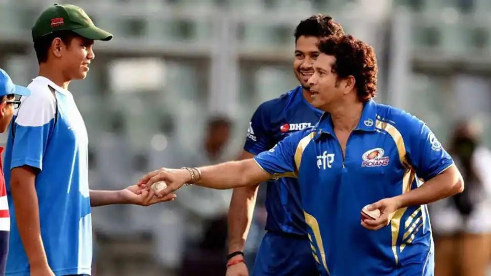 Sachin and Arjun Tendulkar. PHoto- Twitter