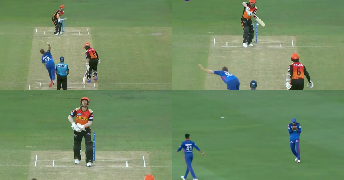 IPL 2021: Watch - Anrich Nortje Gets The Big Wicket Of David Warner In The First Over