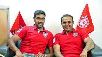 Virender Sehwag and Ravichandran Ashwin