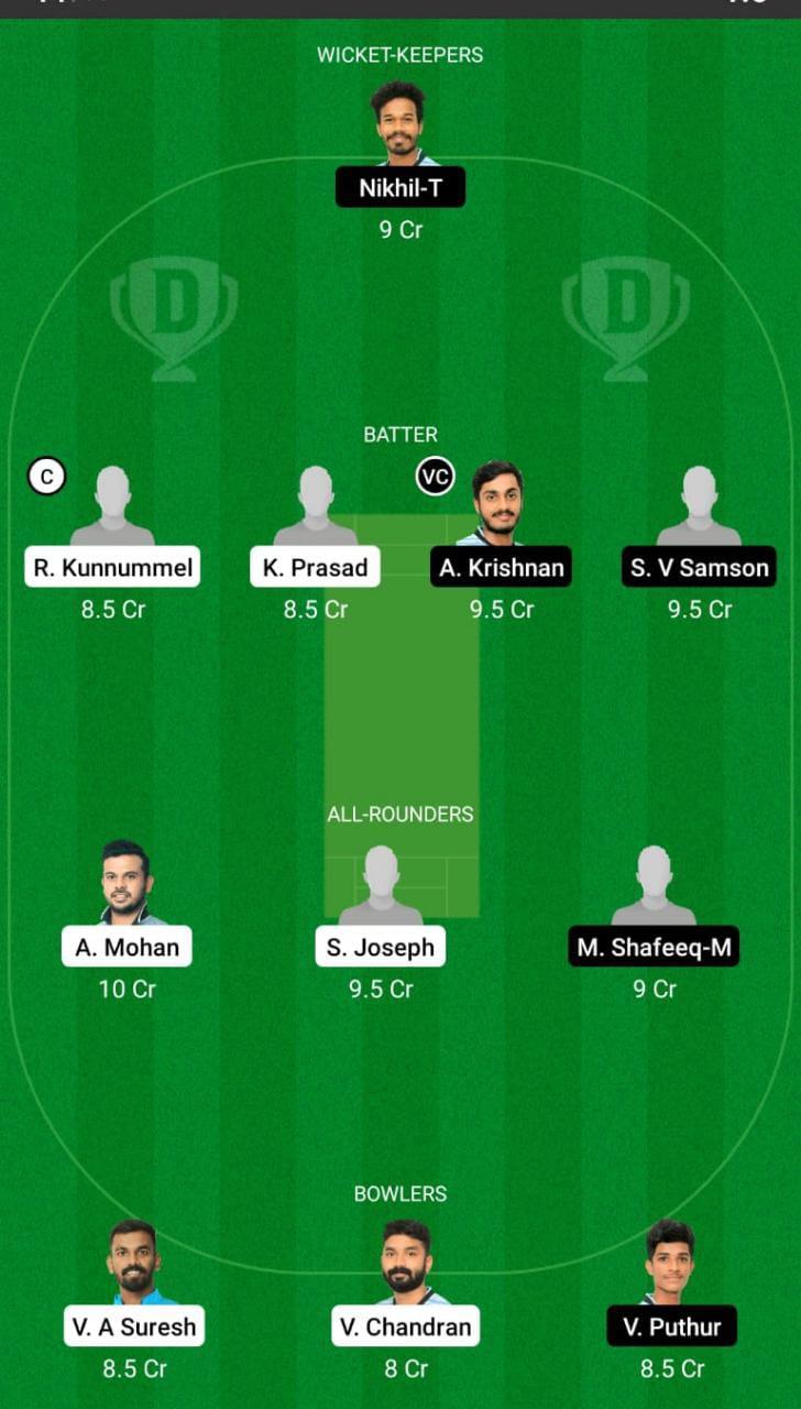MTC vs JRO Dream11 Prediction Fantasy Cricket Tips Dream11 Team Kerala Club Championship
