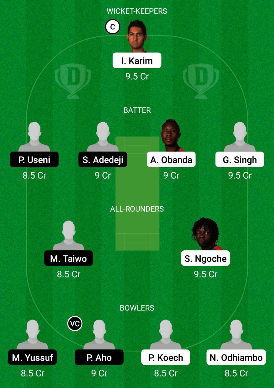 KEN vs NIG Dream11 Prediction Fantasy Cricket Tips Dream11 Team Uganda T20I Tri-Series