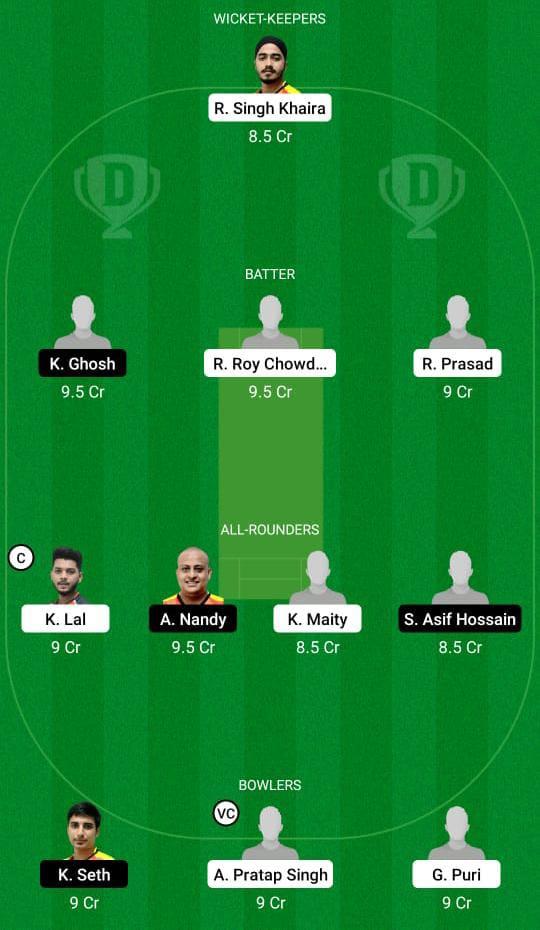 KH vs KC Dream11 Prediction Fantasy Cricket Tips Dream11 Team BYJU's Bengal T20 Challenge
