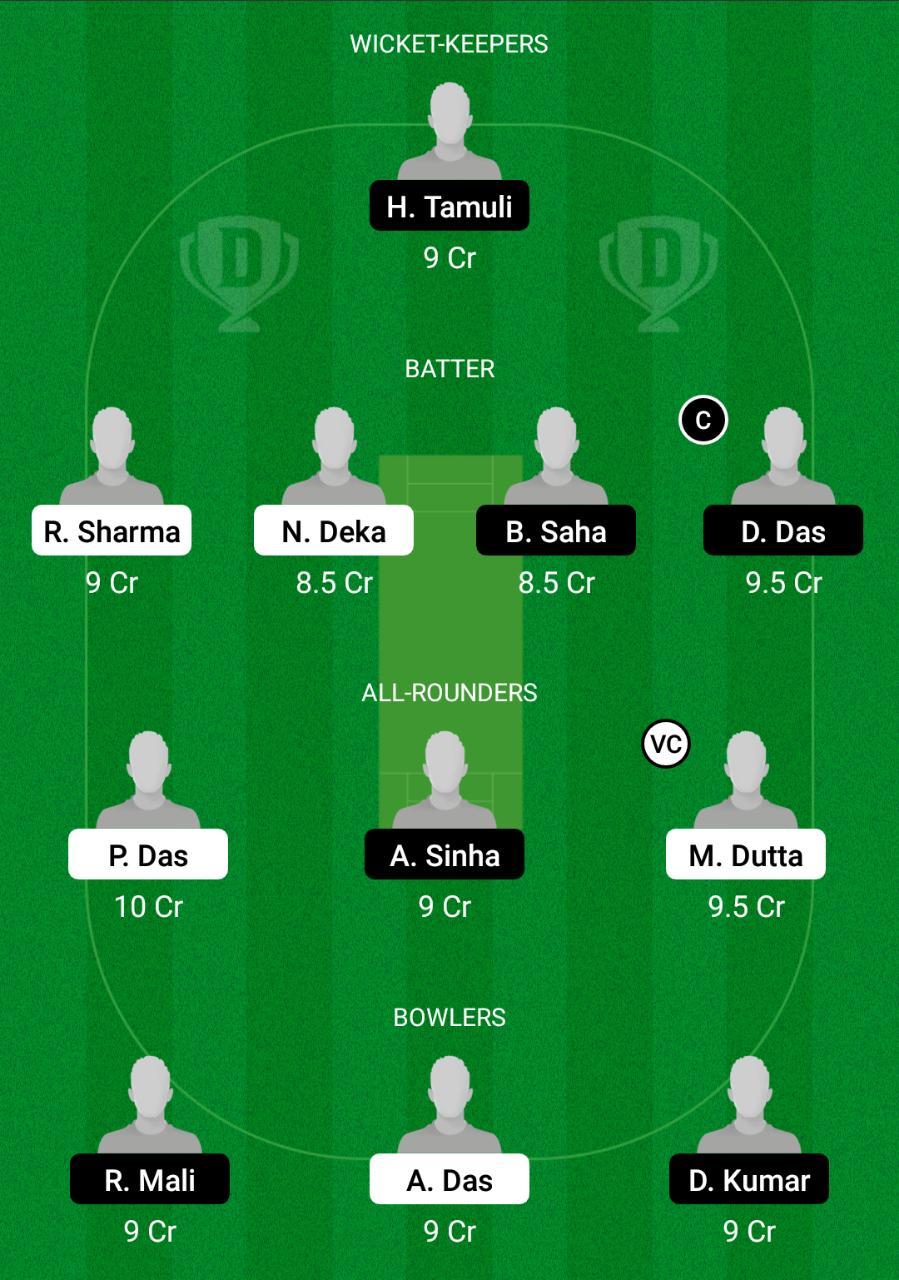 MTI vs KAH Dream11 Prediction Fantasy Cricket Tips Dream11 Team BYJU's Assam T20