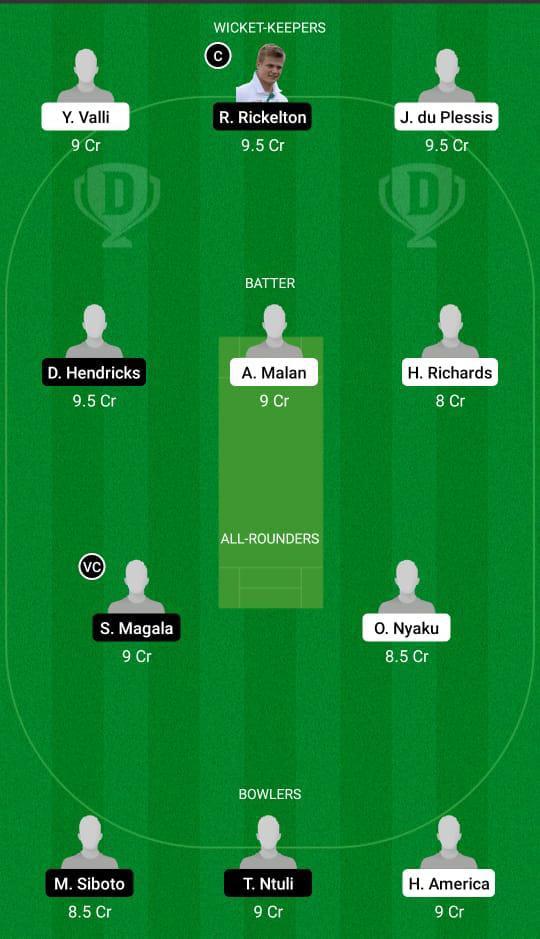SWD vs LIO Dream11 Prediction Fantasy Cricket Tips Dream11 Team CSA T20 Cup