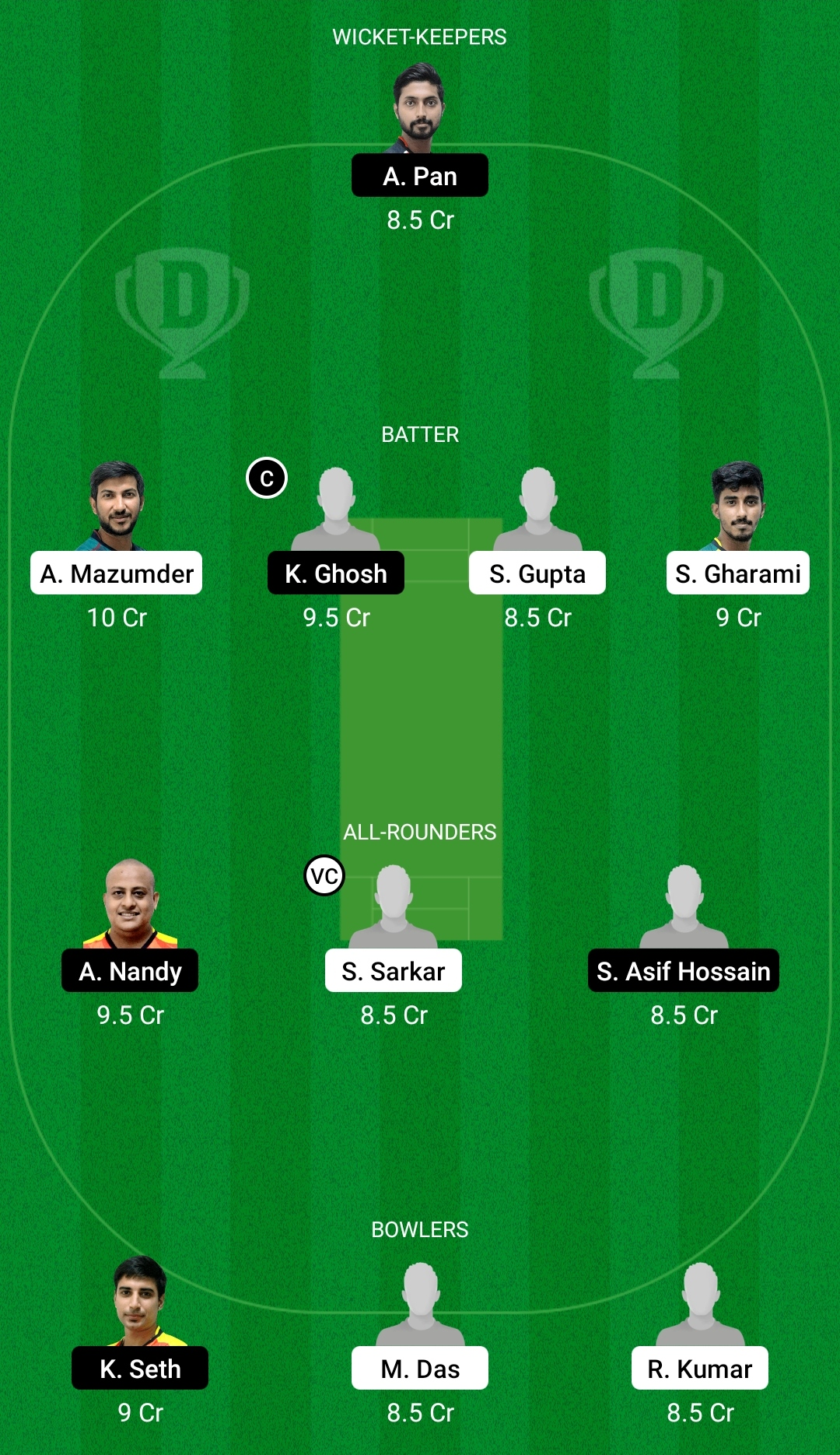 KW vs KC Dream11 Prediction Fantasy Cricket Tips Dream11 Team BYJU's Bengal T20 Challenge