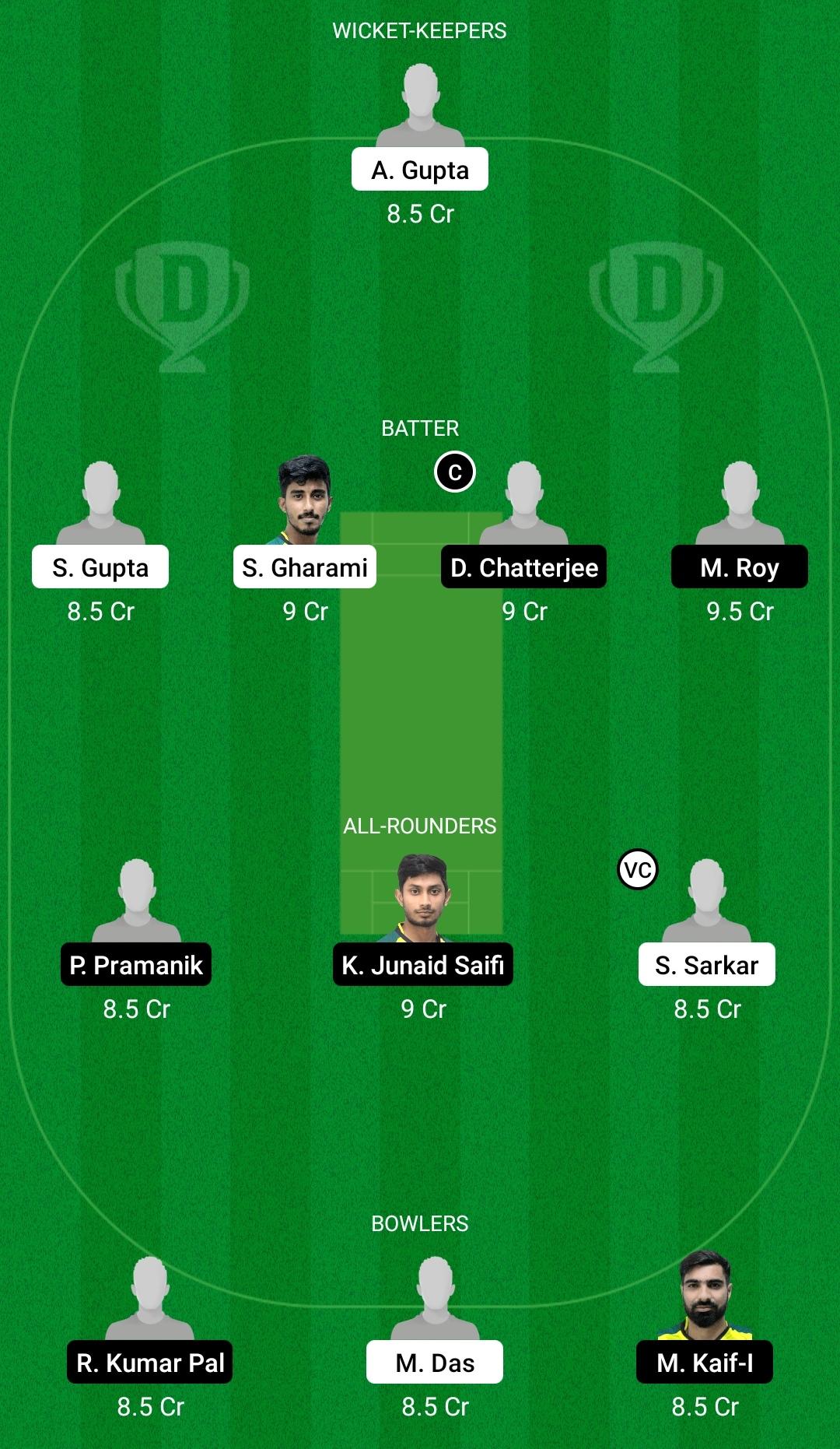 KW vs KB Dream11 Prediction Fantasy Cricket Tips Dream11 Team BYJU's Bengal T20 Challenge