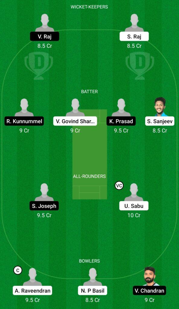 MRC vs MTC Dream11 Prediction Fantasy Cricket Tips Dream11 Team Kerala Club Championship