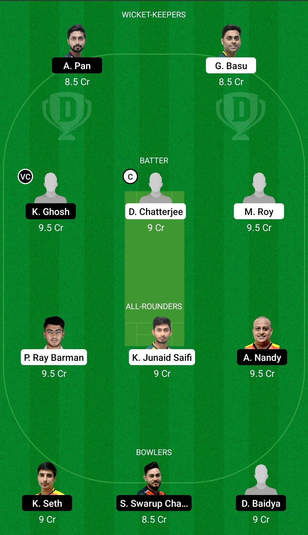 KB vs KC Dream11 Prediction Fantasy Cricket Tips Dream11 Team BYJU's Bengal T20 Challenge